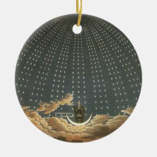 Ornamento De Cerâmica Astronomia celestial do vintage, rainha da noite