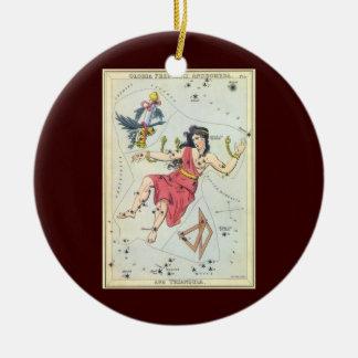 Ornamento De Cerâmica Astronomia do vintage, estrelas da constelação,