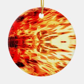 Ornamento De Cerâmica Auto-falante da música com chamas
