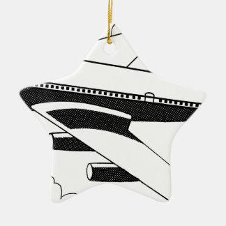 Ornamento De Cerâmica Avião