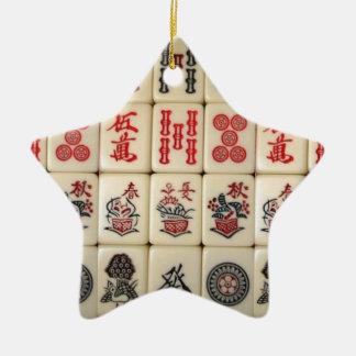 Ornamento De Cerâmica Azulejos de Mahjong