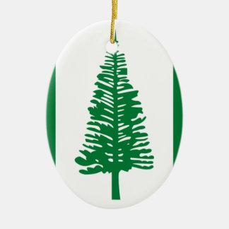 Ornamento De Cerâmica Baixo custo! Bandeira da ilha Norfolk