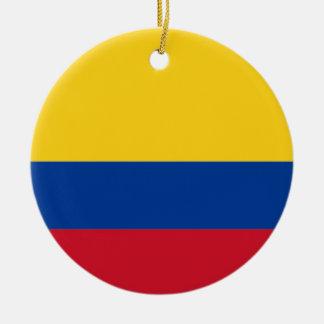 Ornamento De Cerâmica Baixo custo! Bandeira de Colômbia