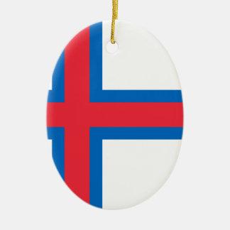 Ornamento De Cerâmica Baixo custo! Bandeira de Faroe Island