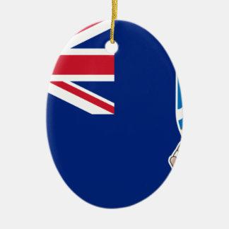Ornamento De Cerâmica Baixo custo! Bandeira de Ilhas Falkland