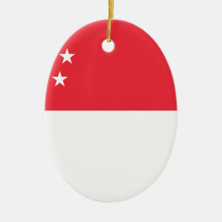 Ornamento De Cerâmica Baixo custo! Bandeira de Singapore