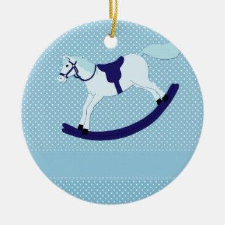 Ornamento De Cerâmica balançar-cavalo