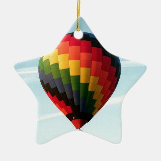 Ornamento De Cerâmica Balão de ar quente no alto