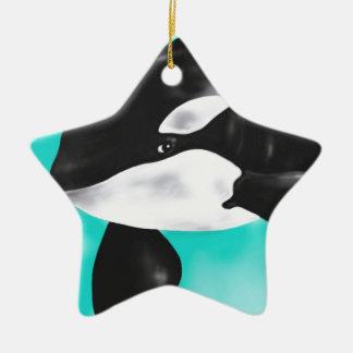 Ornamento De Cerâmica Baleia bonito da orca