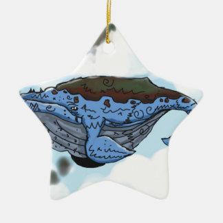 Ornamento De Cerâmica baleia do céu