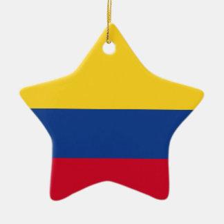 Ornamento De Cerâmica Bandeira colombiana