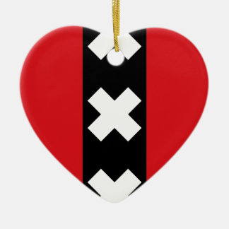 Ornamento De Cerâmica Bandeira de Amsterdão