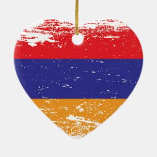 Ornamento De Cerâmica Bandeira de Arménia do Grunge