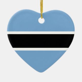 Ornamento De Cerâmica Bandeira de Botswana