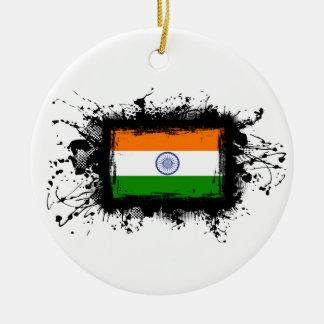 Ornamento De Cerâmica Bandeira de India