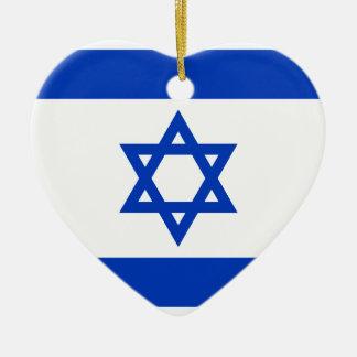 Ornamento De Cerâmica Bandeira de Israel - דגלישראל - ישראלדיקעפאן