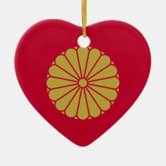 Ornamento De Cerâmica Bandeira de Japão Sessyo