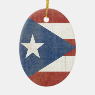 Ornamento De Cerâmica Bandeira de Porto Rico