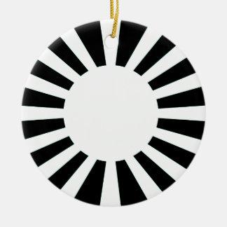 Ornamento De Cerâmica Bandeira de Sun de ascensão de Japão