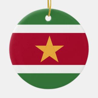 Ornamento De Cerâmica Bandeira de Suriname