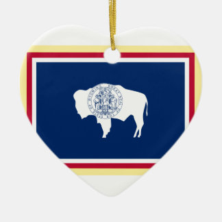 Ornamento De Cerâmica Bandeira de Wyoming