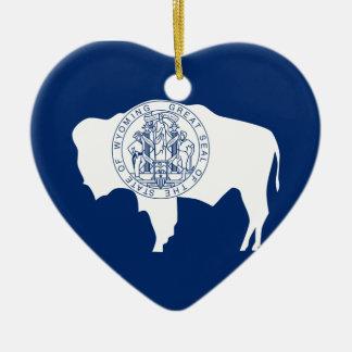 Ornamento De Cerâmica Bandeira do Wyoming