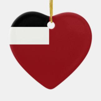 Ornamento De Cerâmica Bandeira Georgian