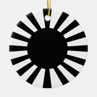 Ornamento De Cerâmica Bandeira japonesa de Sun de ascensão