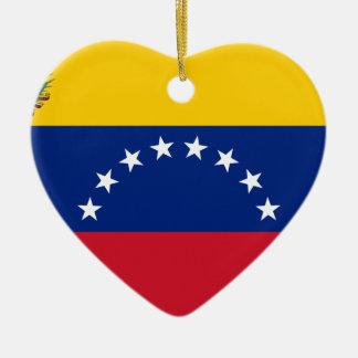 Ornamento De Cerâmica Bandeira venezuelana - bandeira de Venezuela -