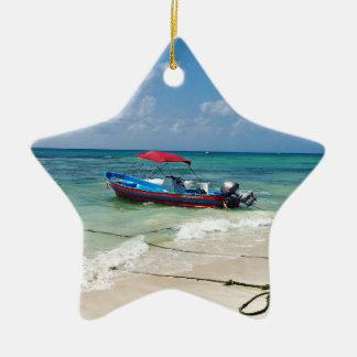 Ornamento De Cerâmica Barco no Playa del Carmen