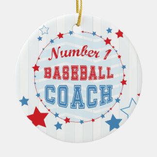 Ornamento De Cerâmica Basebol das Todo-Estrelas do treinador dos