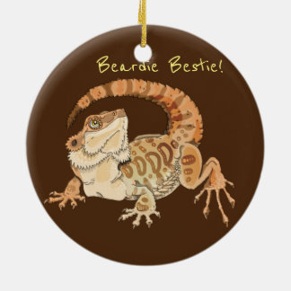 Ornamento De Cerâmica Beardie Bestie!