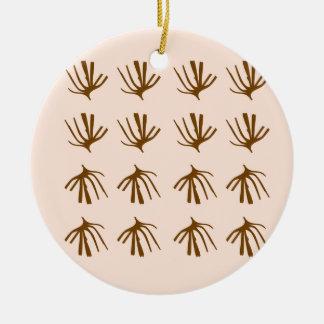 Ornamento De Cerâmica Bege retro das ALGAS