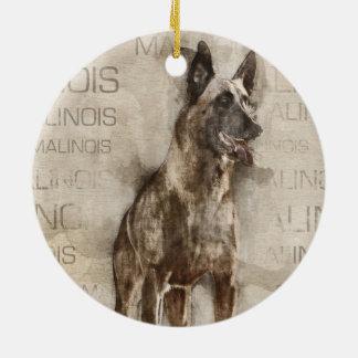 Ornamento De Cerâmica Belga Malinois - Mechelaar - Maligator