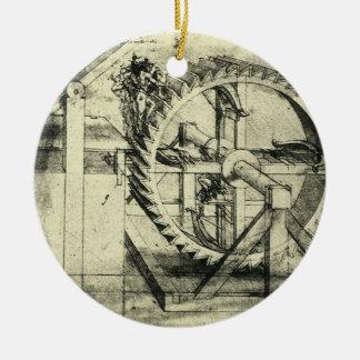 Ornamento De Cerâmica Besta psta escada rolante por Leonardo da Vinci