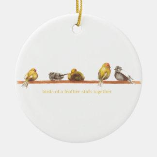Ornamento De Cerâmica Birds of a Feather