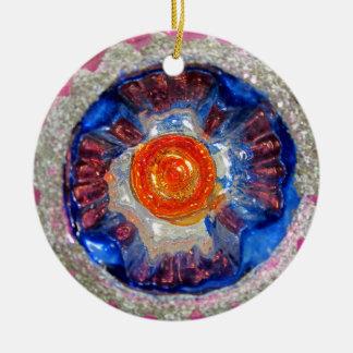 Ornamento De Cerâmica Bola de vidro do Natal do recorte do vintage -