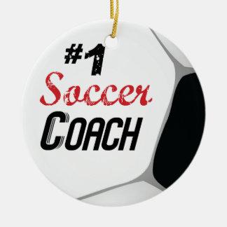 Ornamento De Cerâmica Bola do treinador do futebol #1 grande