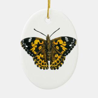 Ornamento De Cerâmica Borboleta pintada da senhora