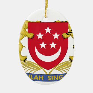 Ornamento De Cerâmica Brasão do emblema do 新加坡国徽 de Singapore