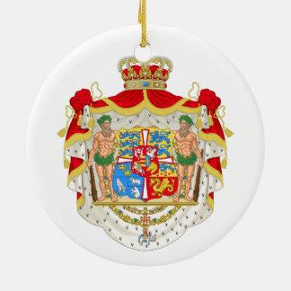 Ornamento De Cerâmica Brasão real dinamarquesa do vintage de Dinamarca