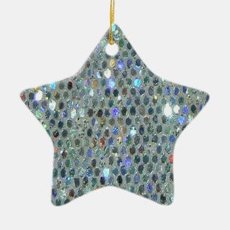 Ornamento De Cerâmica Brilho de prata Sparkly chamativo Bling