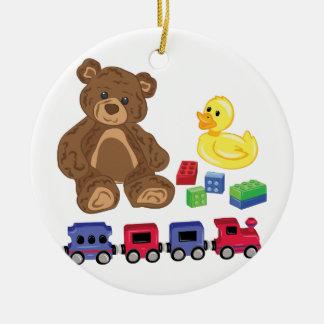 Ornamento De Cerâmica Brinquedos