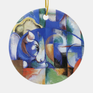 Ornamento De Cerâmica Bull de encontro por Franz Marc, arte do Cubism do