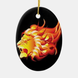 Ornamento De Cerâmica Cabeça do leão do fogo