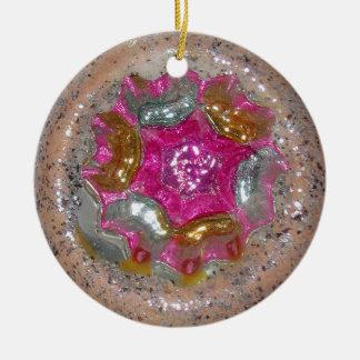 Ornamento De Cerâmica Caleidoscópio de vidro da jóia do rosa do Natal do