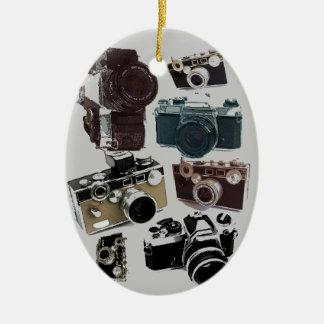 Ornamento De Cerâmica Câmera do vintage da fotografia do fotógrafo do