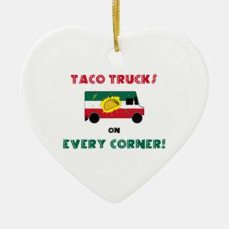 Ornamento De Cerâmica Caminhões do Taco em cada canto