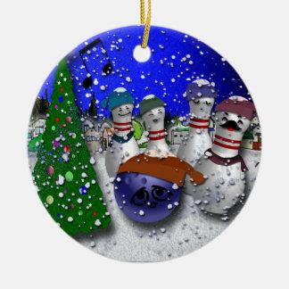 Ornamento De Cerâmica Canção de natal do Natal da boliche