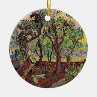 Ornamento De Cerâmica Canto de Van Gogh do hospital e do jardim de St